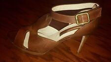 Rupert Sanderson womens brown leather heels dress shoes size 39 US 9
