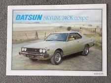 Datsun Skyline 240K Coupe brochure Mar 1979