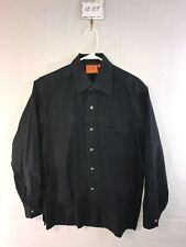 Men's Large Versace Dolm Striped Long Sleeve Button Down Shirt
