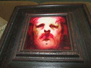 Michael Hussar original painting 5 x 5