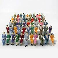 Evemodel 48pcs Model Train G scale Sitting Figures 1:25 Painted Seated People 4