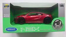 WELLY 2015 HONDA NSX RED 1:34 DIE CAST METAL MODEL NEW IN BOX