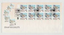 STAMP BOOKLET 10X37C 01/07/1988 1068 POSTAL SERVICES PERTH WA MINT