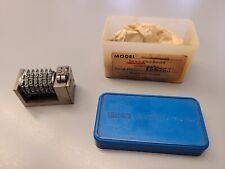 Leibinger forward  6 Digit Letterpress Numbering Machine ROMAN FONT #12