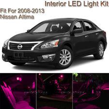 For Nissan Altima Coupe 2008-2013 Pink Interior LED Light Kit + White License