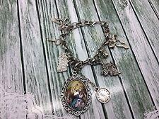 Alicia en el país de las Maravillas Plata pulsera con dijes Reloj Día Mundial del Libro de conejo alicia