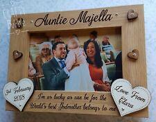 Personalised engraved photo frame godparent godmother godfather gift present
