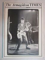 THE ARMAGIDEON TIMES NUMBER TWO THE CLASH OFFICIAL MAGAZINE TOUR PROGRAM RARE!