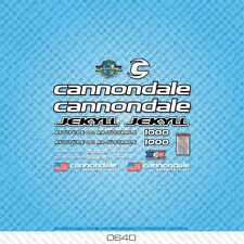 Cannondale Jekyll 1000 Bicycle Decals - Transfers - Stickers - White - Set 0640
