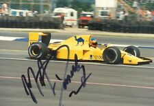 MARTIN DONNELLY HAND-SIGNED ORIGINAL PHOTO - 1980's> F1 ARROWS, LOTUS etc