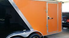 7x14TA +2' V Nose Enclosed Cargo Motorcycle Trailer apply Harley Davidson Decals