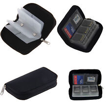 22 X Memory Card Wallet Micro SD SDHC CF SM Protective Storage Holder Pouch Case