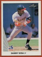 1990 Leaf #220 Sammy Sosa ROOKIE RC MINT Chicago White Sox FREE SHIPPING