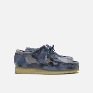 Clarks Originals Wallabee Men's Suede Shoes Blue Camo