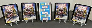 Lot of 5 PANINI Marvel 80th Anniversary Stickers Sealed Packs NEW