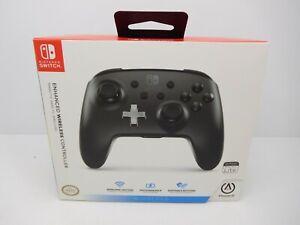 "Power A - Nintendo Switch  Enhanced Wireless Controller - Black ""NEW"""