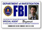 ANGEL CASTIEL AGENT BEYONCE SUPERNATURAL NAME BADGE W/ PIN & BUTTON HALLOWEEN