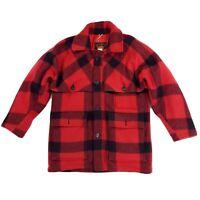 Eddie Bauer Goose Down Buffalo Plaid Wool Mackinaw Coat Jacket Cruiser MEDIUM
