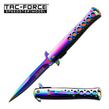 "9"" TAC FORCE STILETTO MILANO Titanium Spring Assisted Tactical Pocket Knife New"