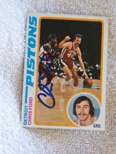 Detroit Pistons Chris Ford Signed 78/79 Topps Card Auto