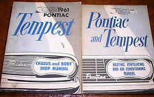 1961 61 Pontiac Tempest Lemans Service Manuals Body & Chassis & Air & Heating