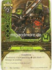 Warhammer Invasion - 1x Big Guns  #013 - Cataclysm