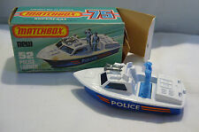 Matchbox - Superfast - MB 52 Police Launch -Made in England - in Box
