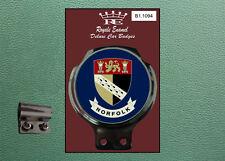 Royale Classic Car Badge & Bar Clip COUNTY of NORFOLK B1.1094