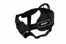 "Dean & Tyler Sheriff Dog Harness with Padded Chest Medium Girth: 28"" - 34"" Black"