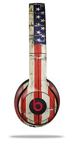Skin Beats Solo 2 3 Painted Cracked USA American Flag Headphones NOT INCLUDED