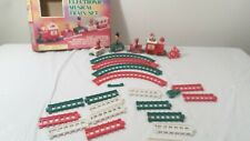 Vintage 1987 Tony Electronic Musical Christmas Train Set in orig box
