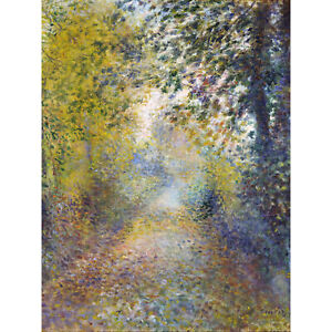 Renoir In The Woods Painting Landscape Extra Large Wall Print Canvas Mural