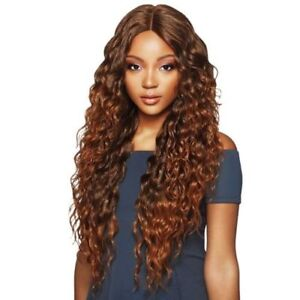 """Outre Synthetic Hair Lace Front Wig Swiss lace 6"""" Deep Parting AMARA WIG"""