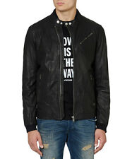 DIESEL LOHAR-R LEATHER JACKET SIZE S 100% AUTHENTIC