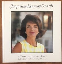 JACQUELINE KENNEDY ONASIS (JFK's Widow) A Tribute BOOK signed by JACQUES LOWECOA