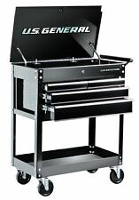 NEW 26 In. 4 Drawer 580 Lb. Capacity Glossy Black Roller Cart