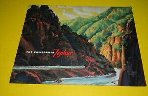 The California Zephyr Brochure 1949 Vista Dome Outstanding Feature