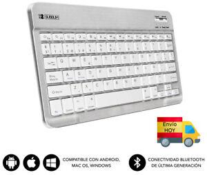 NUEVO TECLADO PC BLUETOOH 3.0 MINI COMPATIBLE PC ANDROID MAC ESPAÑOL Ñ ENVIO HOY