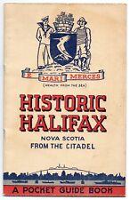 1949 Souvenir Guide Book of Historic Halifax Nova Scotia Illustrated, Map