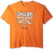 Ncaa Virginia Cavaliers Baseball Bats Short Sleeve Comfort Color T-Shirt, X-L.