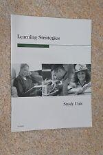"Penn Foster ""Learning Strategies"" Study Unit #14700803"