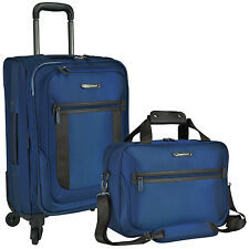 St Augustine Carry-on Nylon Expandable Spinner Lightweight Luggage Tote Bag Set