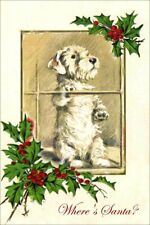 Sealyham Terrier Dog -Lucy Dawson 1930's 8 Large New Blank Christmas Note Cards