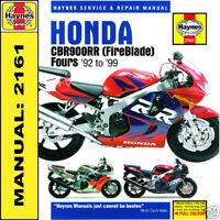 Honda CBR900 RR FireBlade 1992-1999 Haynes Manual HB2161 HARDBACK NEW