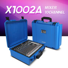 700W amplifier 10 Channel Audio DJ Mixer w/ Bluetooth & USB Multi-function Case