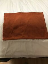 Orange Fabric Placemats Table Setting Place Mats Thanksgiving Color Set of 4