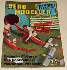 AERO MODELLER August 1961 Plans : DORNIER 27 + U-2 + MCDONNELL F4 H-1 PHANTOM