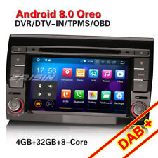 Octa-Core Android 8.0 GPS Autoradio For FIAT BRAVO DAB+ WiFi CANBUS 4G Bluetooth