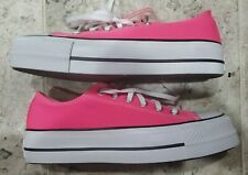 New Converse All Star 570324C Bright Pink Sneakers Low Platform Women's Size US8
