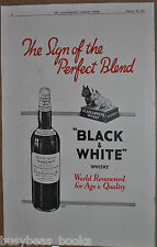 1934 BLACK & WHITE WHISKY advertisement, Scotty Dogs, Whiskey, British advert